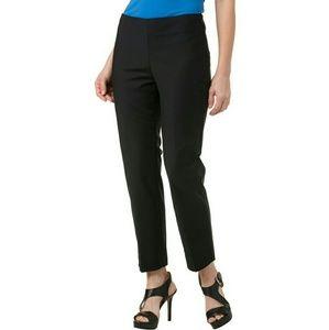 New Ellen Tracy Ebony Ankle Side Zip Dress Pants